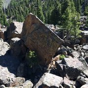 Rock Climbing Photo: New routes on this boulder near the Kwik-E Mart on...