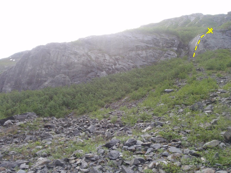 Rock Climbing Photo: Astroglide climbs the aret on the upper right form...