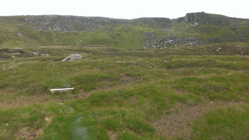 Approaching main boulder field.