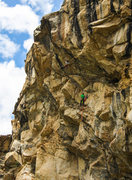 Rock Climbing Photo: Alvaro Arnal setting off into the difficulties on ...