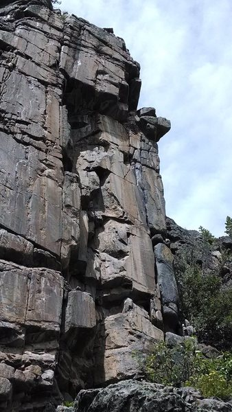 Rock Climbing Photo: The route is on the climber's right arete of this ...