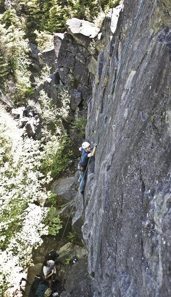 """Rock Climbing Photo: """"Winter Rushing In"""" 5.8"""