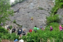 Rock Climbing Photo: Filling up the Campground Wall with good memories ...