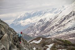 Rock Climbing Photo: Topping out at the Sunny Side Wall on Thompson Pas...