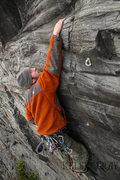 Rock Climbing Photo: Crushing the Sunny Side.