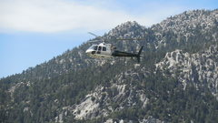 Rock Climbing Photo: The Sheriff's Dept. helicopter surveying climbers ...