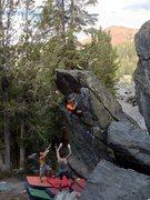 Rock Climbing Photo: Hail Mary (V3)