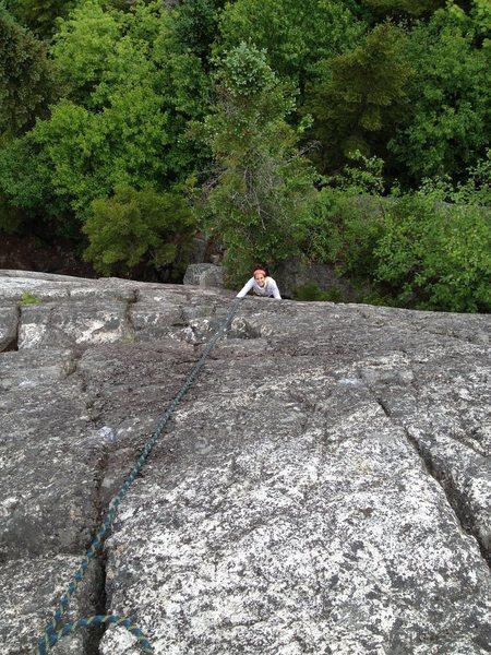 Rock Climbing Photo: Laura Halupowski on Elephants Head Left Variant