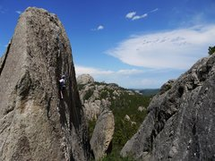 Rock Climbing Photo: Cool route, Jay on WI beef