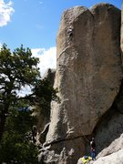 Rock Climbing Photo: Baker on Baba Cool