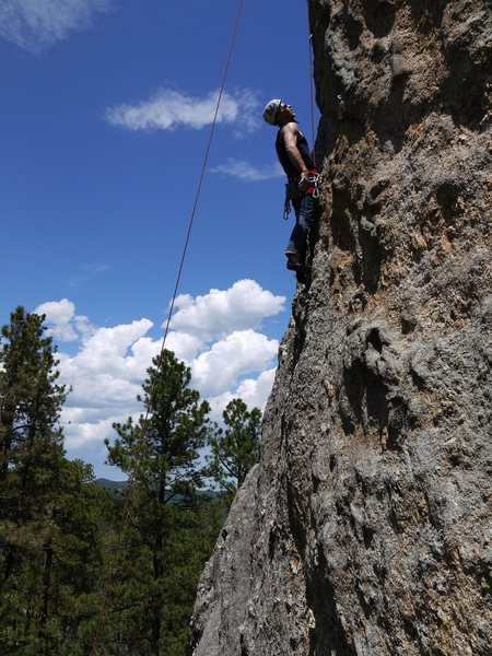 Rock Climbing Photo: Satermo on lead fillings