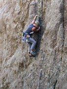 Rock Climbing Photo: Cool route, Baker climbing