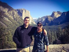 Rock Climbing Photo: At Yosemite. I'm on the right.