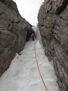 Rock Climbing Photo: 3rd ice step (solid water ice).