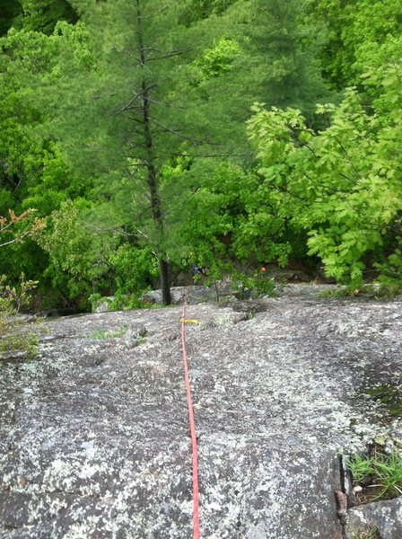 Rock Climbing Photo: View from the top of pitch 1, Charlotte's Crack.  ...