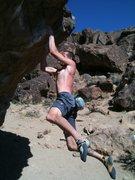 Rock Climbing Photo: Sticking the swing (finally)