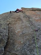 Rock Climbing Photo: Sewing it up, like seven pieces in 40 feet.  Prett...