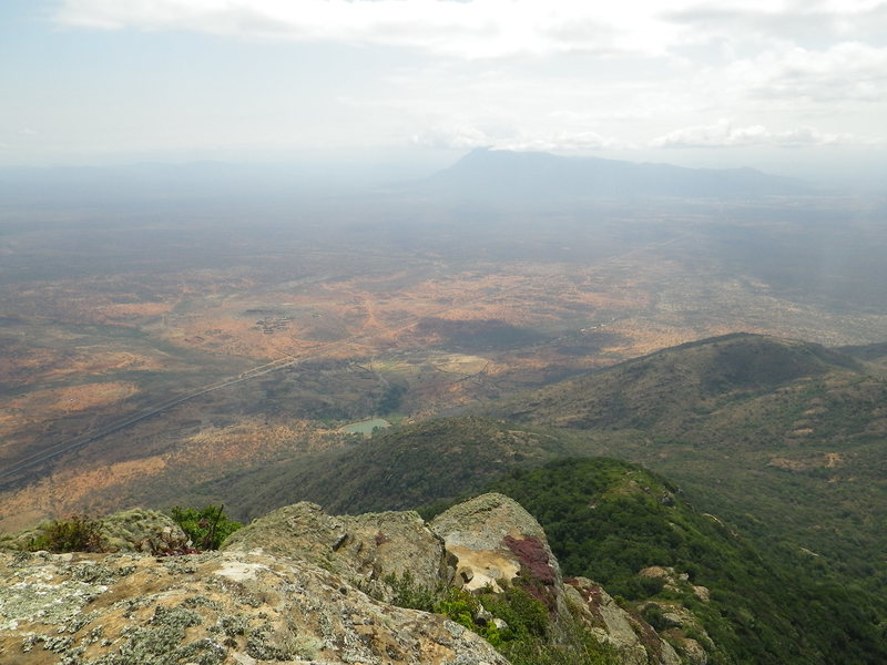 View from the top of Longido into kenya