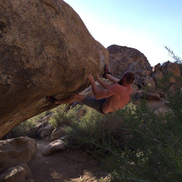 Rock Climbing Photo: Heel hook on pocket rocket.