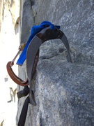 Rock Climbing Photo: The Meat Hook in use.