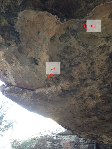 Rock Climbing Photo: Starting holds.