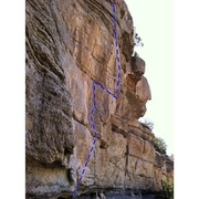 Rock Climbing Photo: the arete you cant see the top of the route in thi...