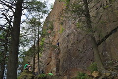 Rock Climbing Photo: Ragged Mountain Main Cliff looking left (north) in...