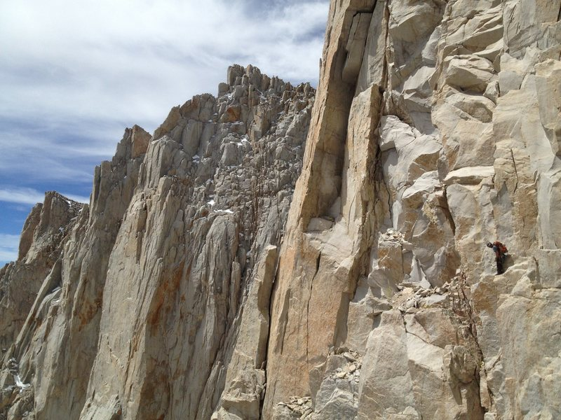 lost on the Fresh Air Traverse. Super easy when you find the correct line