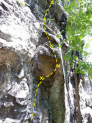 Rock Climbing Photo: The route just right of Tropicana