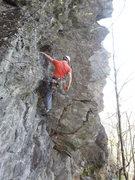Rock Climbing Photo: Simon Léveillé just starting.