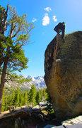 Rock Climbing Photo: Munge on the TIP SUCKA!!!