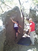 Rock Climbing Photo: first outside problem! Castle Rock