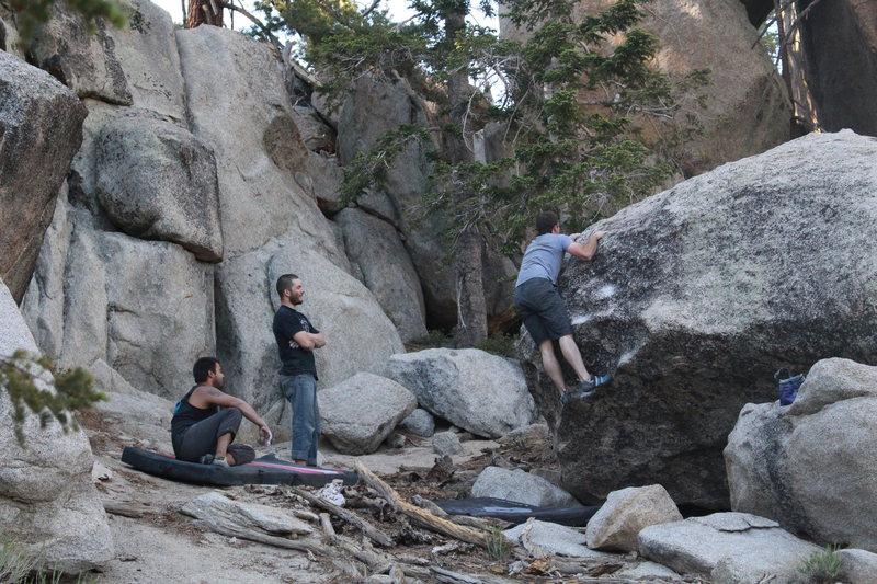 Rock Climbing Photo: Nathan getting his hump on