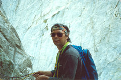 Rock Climbing Photo: Me feeling a little scared, just before the crux p...