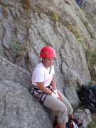 Rock Climbing Photo: Tara Excited to climb Devils Tower for the first t...