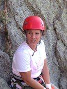 Rock Climbing Photo: Tara Realizing she is going to climb Devils Tower ...