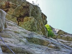Rock Climbing Photo: My lead of the money pitch. Thank you Ashlee for t...