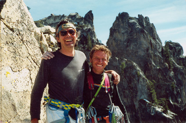 So happy, Top of Castle Rock Spire. Kris sure is short.