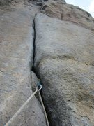 Rock Climbing Photo: The crux!