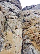 Rock Climbing Photo: Pitch 3 yellow corner.  Awesome pitch. Classic yos...