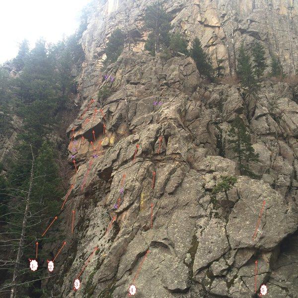 The crag.