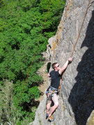 Rock Climbing Photo: DSwanson on No Nuts, 5.10a.