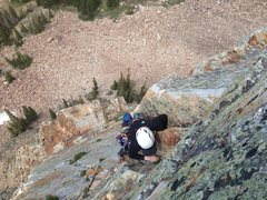 Rock Climbing Photo: Rox cruising up to the 4th belay after the sweet f...