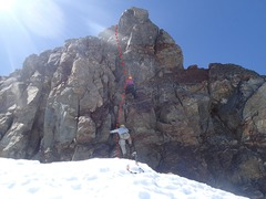Rock Climbing Photo: Summit Block (north side, which is also the rappel...