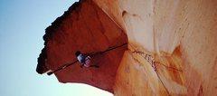 Rock Climbing Photo: Desert Gold (5.13) Red Rocks (1989)