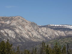 Rock Climbing Photo: Slabs east of Windy Lake (on left) and the Upper M...