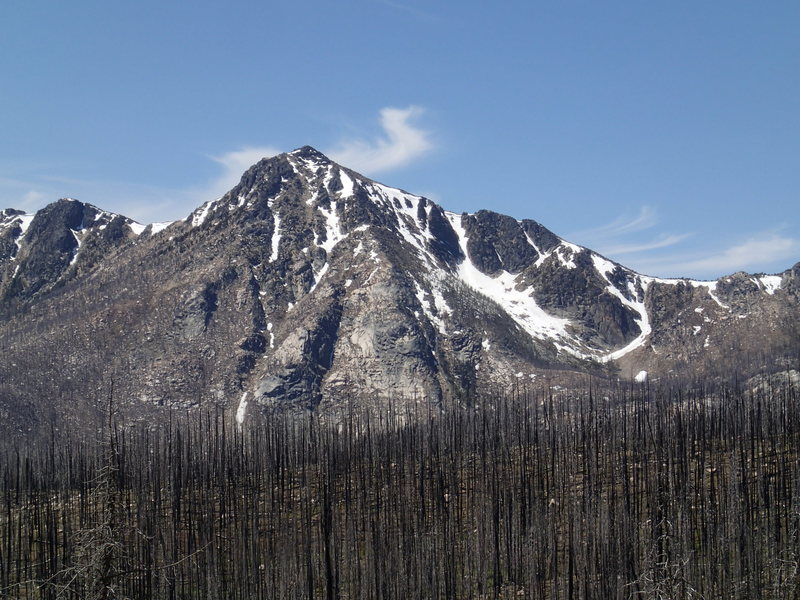 East Face of Windy Peak in late June.