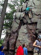 Rock Climbing Photo: Chris on Broken Boulders