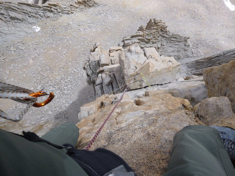 Rock Climbing Photo: A quick shot over my shoulder at the tremendous ex...