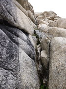 Rock Climbing Photo: The actual start of the first pitch of the Diagona...